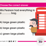 Question 68: Mrs Pearson had everything in a ……….. bag.