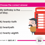 Question 70: My birthday is the …………… of May.
