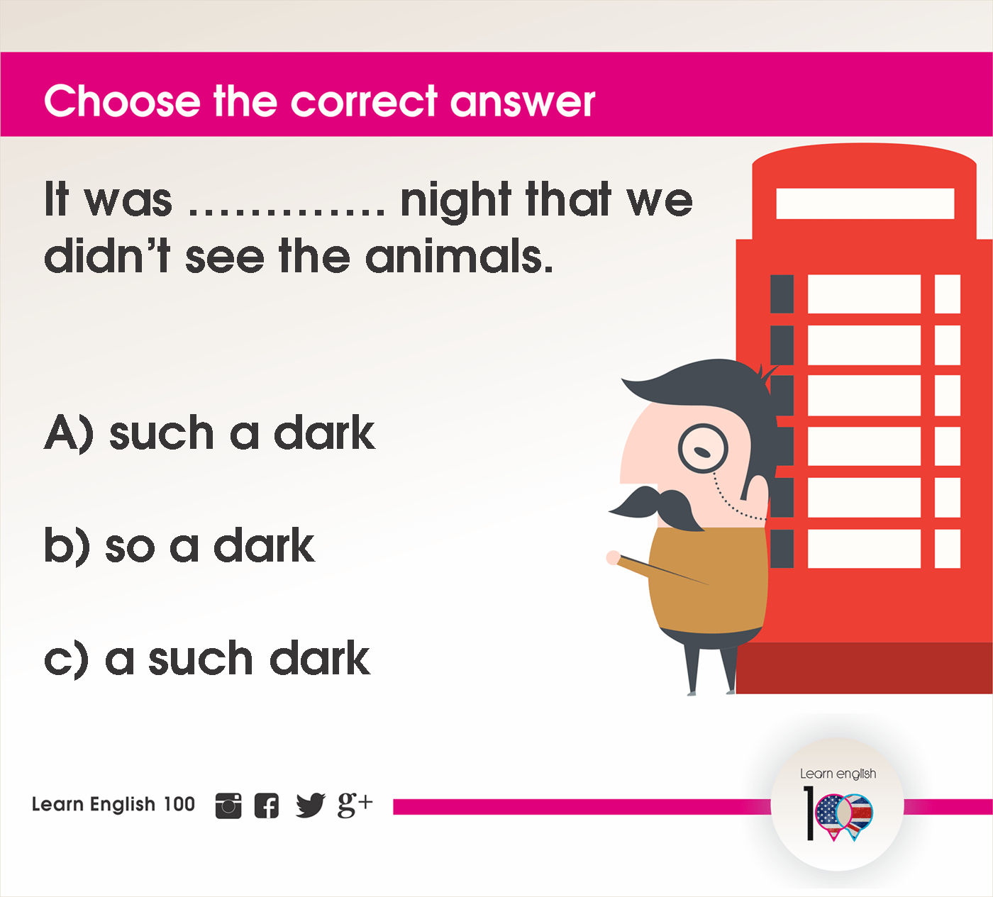 English question73