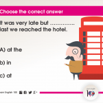 Question 87: It was very late but ………….. last we reached the hotel.