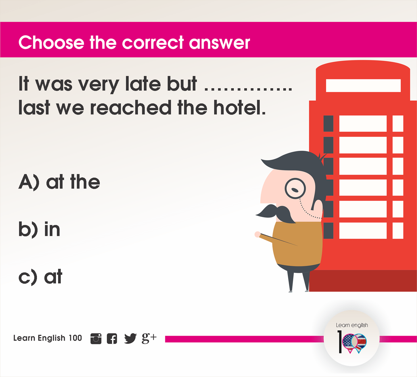 English question87