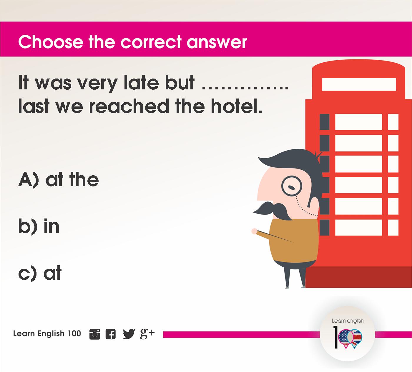 English question87