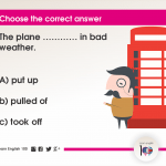 Question 93: The plane ………… in bad weather.
