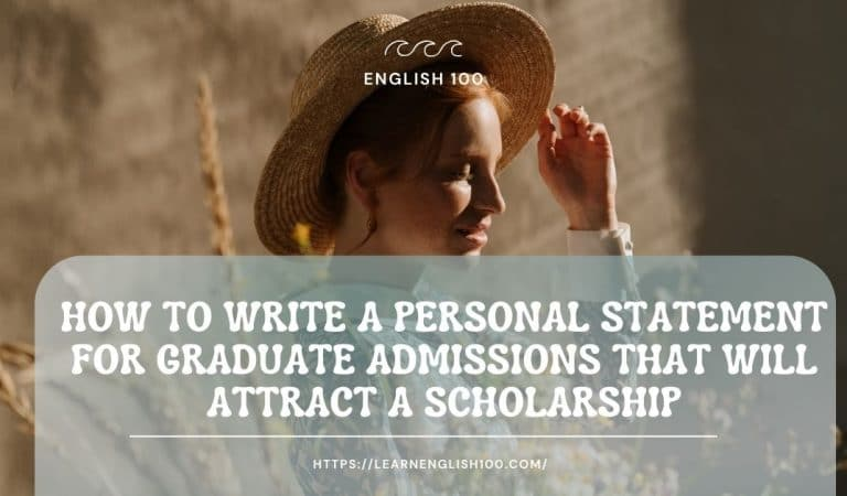 How to Write a Personal Statement for Graduate Admissions